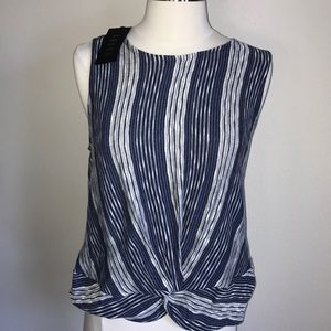 W5 blue grey knitted top meidum new with tags tank